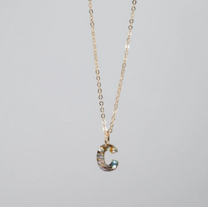 Abalone Initial Necklace