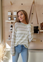 Load image into Gallery viewer, Juice stop stripe pullover