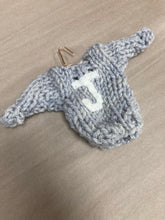 Load image into Gallery viewer, Sweater initial ornament