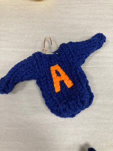 Sweater initial ornament