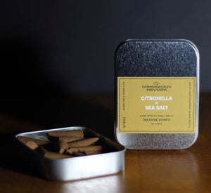 Citronella + Sea Salt Incense Cones