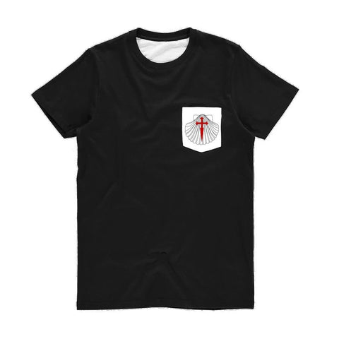 Shell with Cross Unisex Pocket T-Shirt