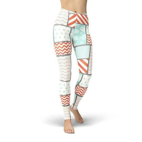 Jean Christmas Patchwork Leggings