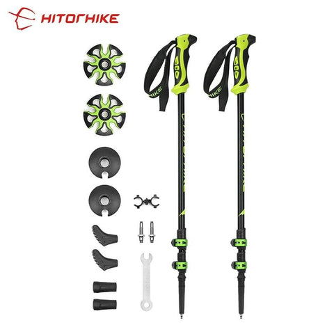 Ultralight Adjustable Telescopic Alpenstock Trekking Poles