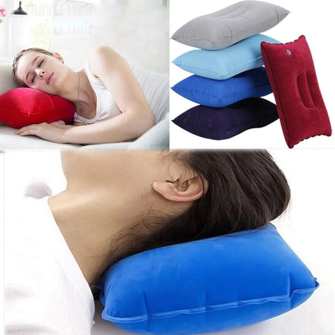 7 Colors Inflatable Travel Folding Neck Pillow