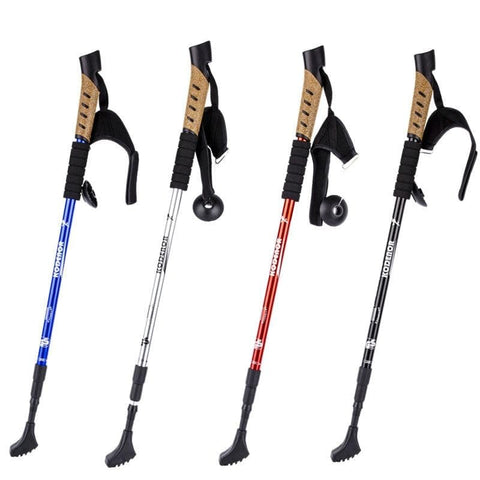 Anti Shock Nordic Walking Sticks Telescopic With Rubber Tips
