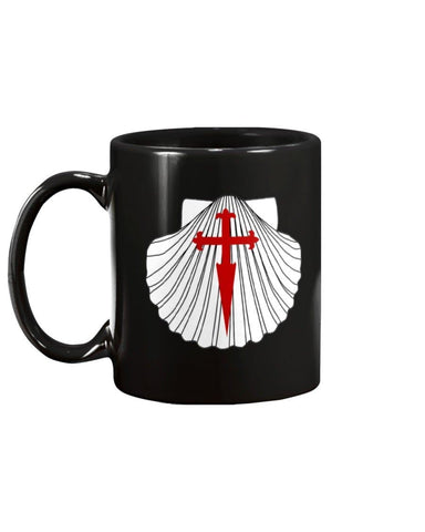 Scallop with St James Cross 15oz Mug