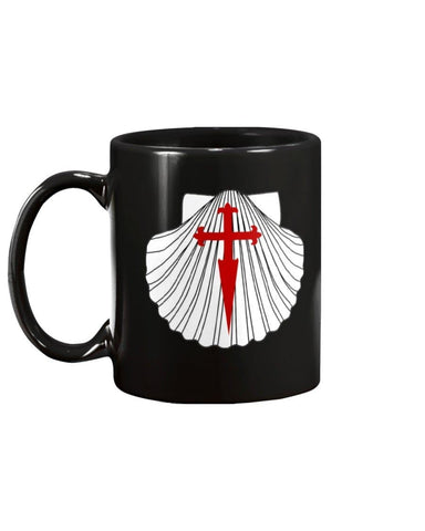 Scallop with St. James Cross 11oz Mug