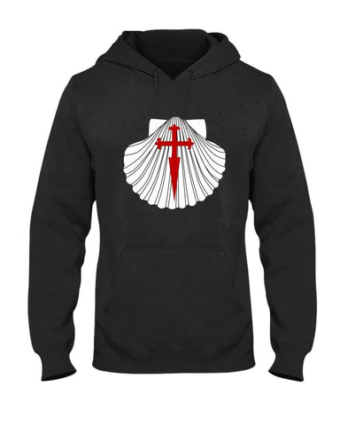 Scallop with St James Cross 50/50 Hoodie