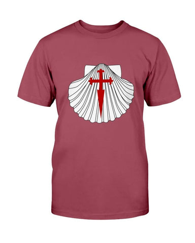 Scallop with St. James Cross Cotton T-Shirt