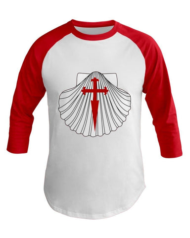 Scallop w/ St. James Cross 3/4 Sleeve Raglan Shirt
