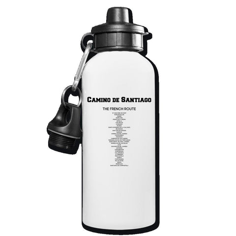 Camino Stages Water Bottle - white