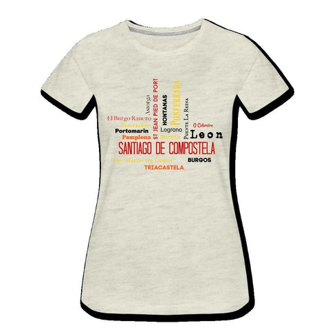 Camino Cities & Villages - Womens Premium T-Shirt - heather oatmeal