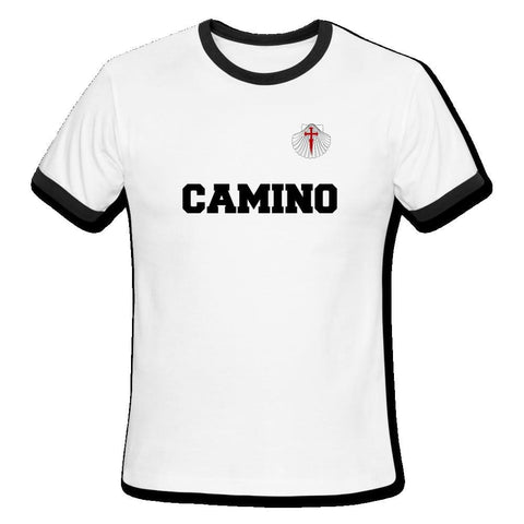 Camino Men's Ringer T-Shirt - white/black