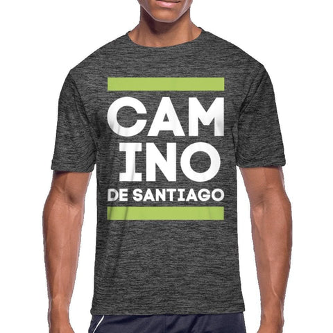 Camino Mens Moisture Wicking Performance T-Shirt - dark heather gray