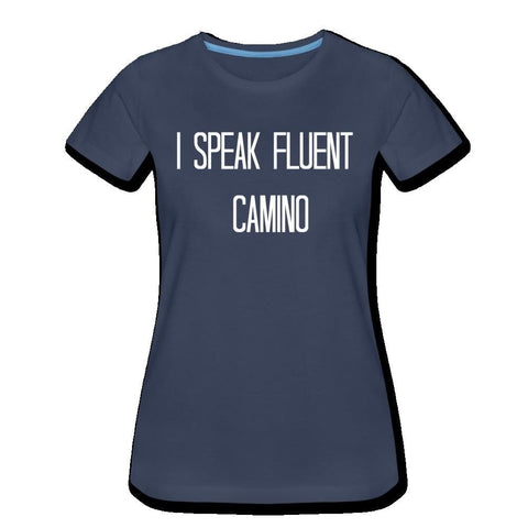 Speak Camino Womens Premium T-Shirt - navy