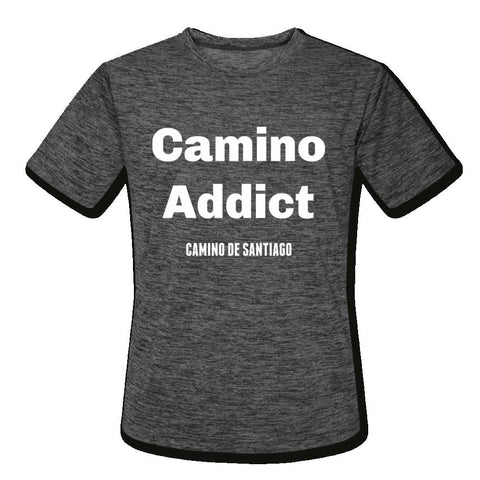 Camino Addict Mens Moisture Wicking Performance T-Shirt - dark heather gray