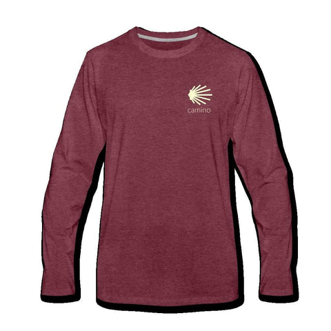 Camino Men's Premium Long Sleeve T-Shirt - heather burgundy