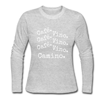 Cafe Vino - Women's Long Sleeve Jersey T-Shirt - gray