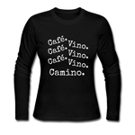 Cafe Vino - Women's Long Sleeve Jersey T-Shirt - black