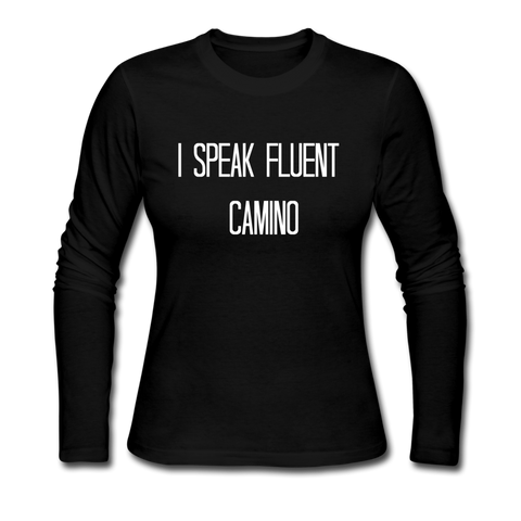Fluent Camino Women's Long Sleeve Jersey T-Shirt - black