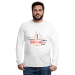Camino Frances Cities Men's Premium Long Sleeve T-Shirt - white