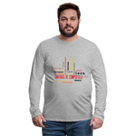 Camino Frances Cities Men's Premium Long Sleeve T-Shirt - heather gray