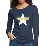 Camino Arrow Women's Premium Long Sleeve T-Shirt - navy