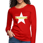 Camino Arrow Women's Premium Long Sleeve T-Shirt - red