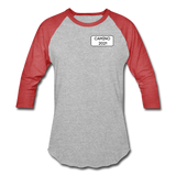 Camino 2021 Baseball T-Shirt - heather gray/red