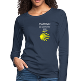 Camino 2021 Women's Premium Long Sleeve T-Shirt - navy