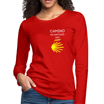 Camino 2021 Women's Premium Long Sleeve T-Shirt - red