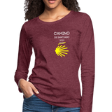 Camino 2021 Women's Premium Long Sleeve T-Shirt - heather burgundy