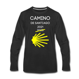 Camino 2021 Men's Premium Long Sleeve T-Shirt - black