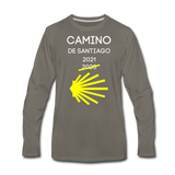 Camino 2021 Men's Premium Long Sleeve T-Shirt - asphalt gray