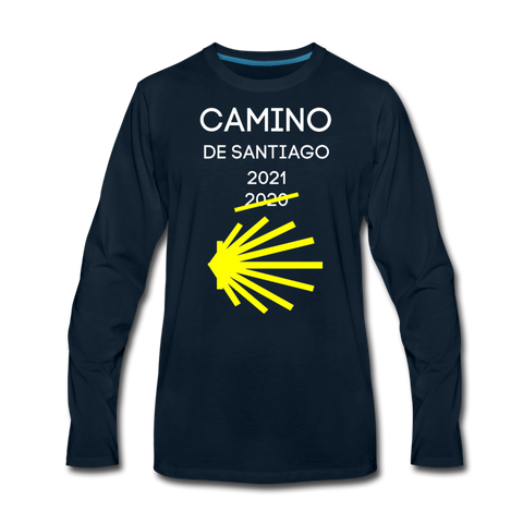 Camino 2021 Men's Premium Long Sleeve T-Shirt - deep navy