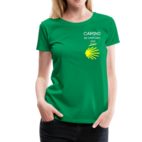 Camino 2021 Women's Premium T-Shirt - kelly green