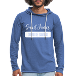 Unisex Lightweight Terry Hoodie - heather Blue
