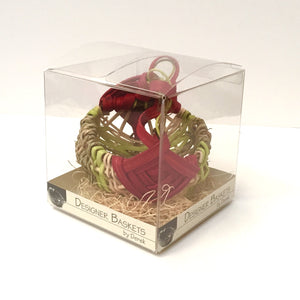 Holiday Petit Grapevine Handle Basket