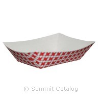 FOOD TRAY/ Red Check Design, 2 lb