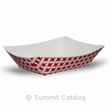 FOOD TRAY/ Red Check Design, 3 lb