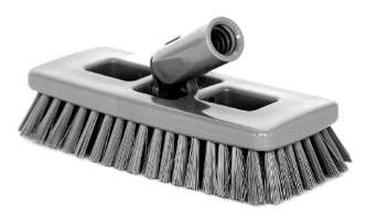 BRUSH/ Swivel Scrub Brush, Gray