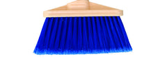 "BROOM/ Angle/ Large/ Blue with 48"" Handle"