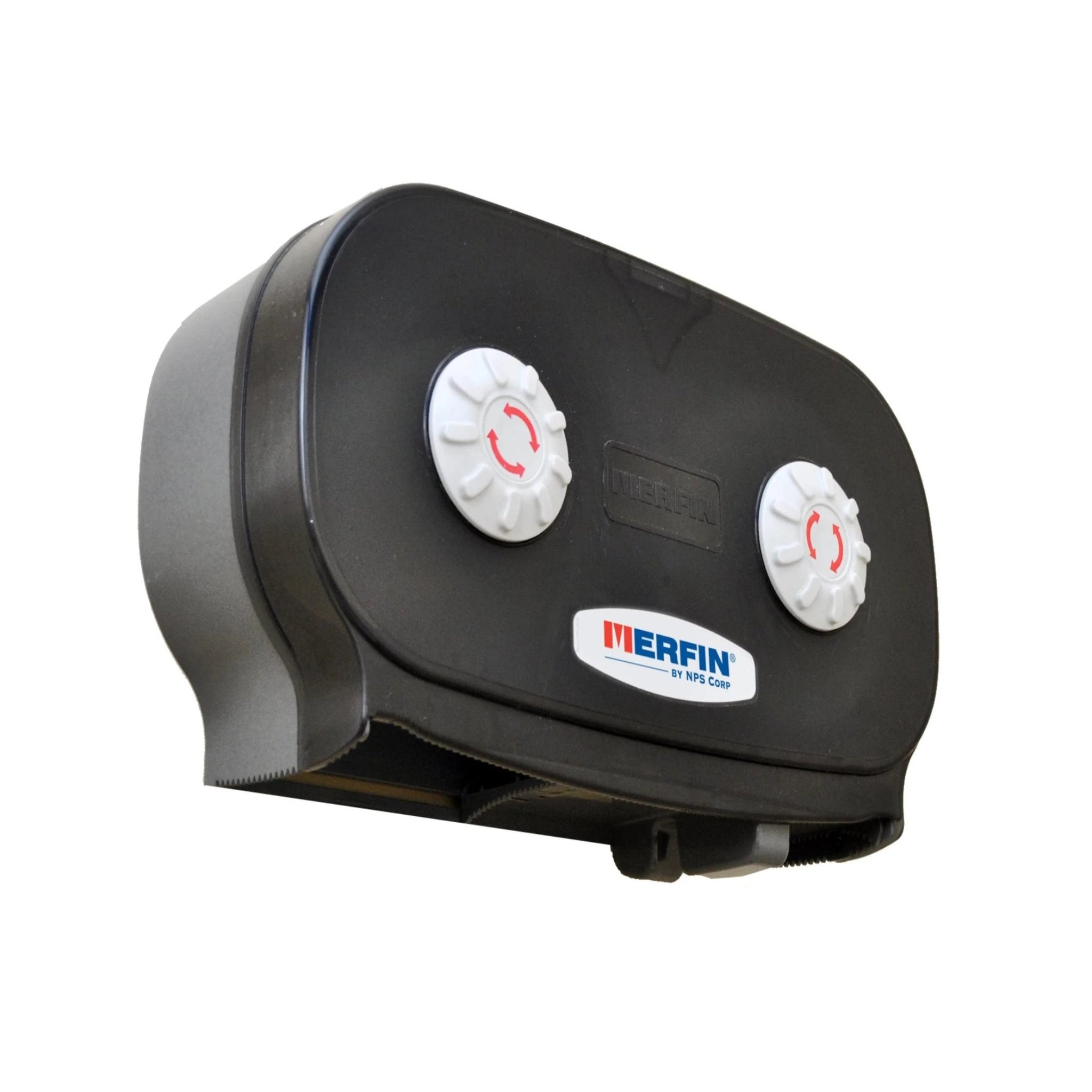 "DISPENSER/ Toilet Tissue/ System/ Merfin/ 7"" Jumbo, Black"
