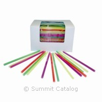 "STRAW/ 6"" Fat Neon Assorted Colors"