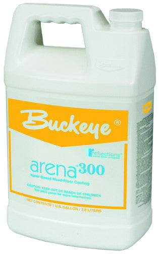"FINISH/BUCKEYE ""ARENA 300"" Water-Based Wood Floor Finish"