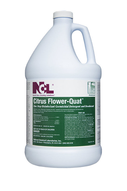 "DISINFECT/ ""CITRUS FLOWER QUAT"" Disinfectant Cleaner"