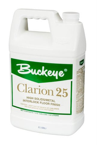 "FINISH/BUCKEYE ""CLARION 25"" Premium Low Maintenance Floor Finish"