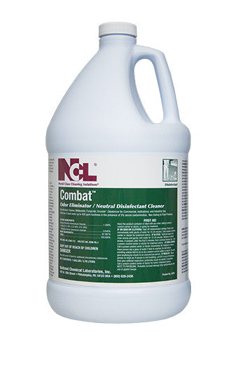 "DISINFECT/ ""COMBAT"" Odor Eliminating Neutral Disinfectant Cleaner"
