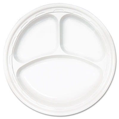 PLATE/ Plastic 10 1/4 Three Compartment, 500/case